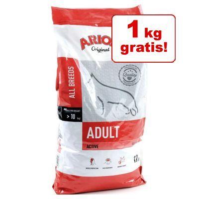 1 kg på köpet! Arion hundfoder till sparpris Adult Medium Breed Salmon & Rice 11 + 1 kg