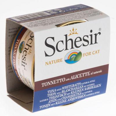 Schesir Natural with Rice 6 x 85 g - tonnikala, naudanfile & riisi