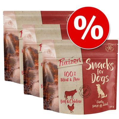 Purizon-koiranherkut: 3 x 100 g erikoishintaan! - lammas & kala