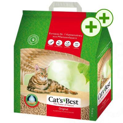 2 x zooPisteitä: Cat's Best Original - 20 l (noin 8,6 kg)