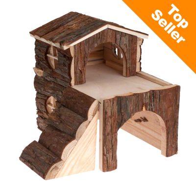 Tvåvåningshus för smådjur – Marsvin 30 x 20 x 30 cm (bredd x djup x höjd)