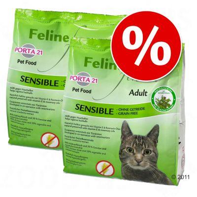 Porta 21 -säästöpakkaus – 2 x 10 kg Feline Finest Adult Cat