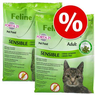 Porta 21 -tuplapakkaus 2 x 2 kg - Feline Finest Cats Heaven