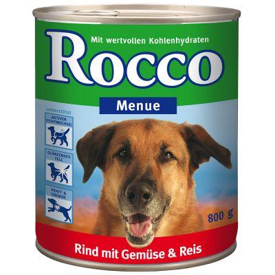 6x800g Menu Rocco Hrana Umeda Caini - Vita Cu Carn