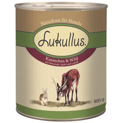 Lukullus Natural, królik i dziczyzna - 6 x 400 g