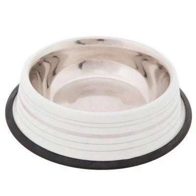 Silver Line mattvit skål i rostfritt stål – 450 ml, 20 cm