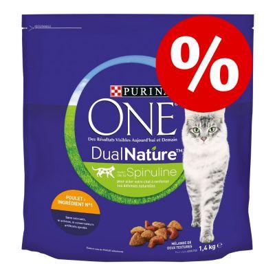 2 x 1,4 kg Purina ONE Dual Nature erikoishintaan! - Chicken (2 x 1,4 kg)