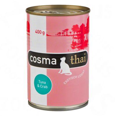 Cosma Thai i gelé 6 x 400 g – Tonfisk & krabbkött
