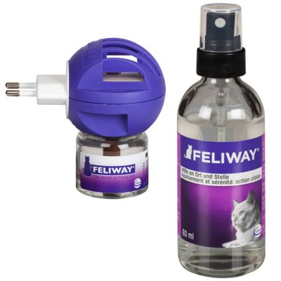 Feliway doftavgivare eller omgivningsspray – Sparset: Fördelare med 48 ml spray + Omgivningsspray 60 ml*