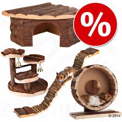 Tarvikesetti hamstereille ja hiirille - 4-osainen setti (juoksupyörä Ø 29 cm)