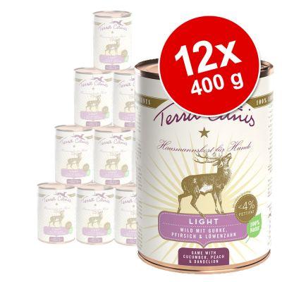 Terra Canis Light -säästöpakkaus 12 x 400 g - nauta, kurpitsa, mango & artisokka