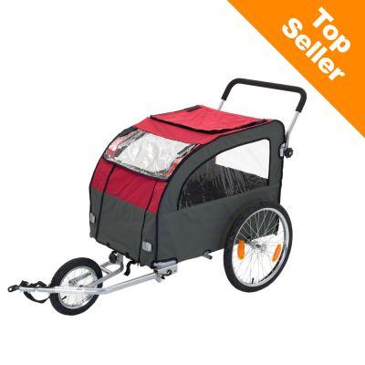 Globetrotter cykelvagn för hundar, inkl. jogging-set – Extra dragkrok