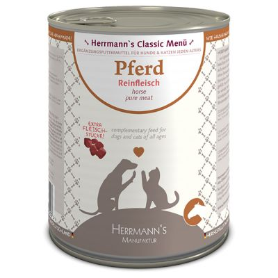 Herrmanns Pure Meat Sensitive 6 x 400 g / 800 g - vuohenliha (400 g)