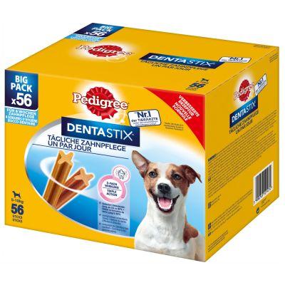 Image of 100 + 12 gratis! 112 x Pedigree Dentastix / Dentastix Fresh Hundesnacks - Dentastix x 56 + Dentastix Fresh x 56 - für grosse Hunde (>25 kg)