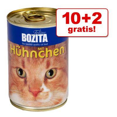 10 + 2 på köpet! 12 x 410 g Bozita våtfoder – Kyckling
