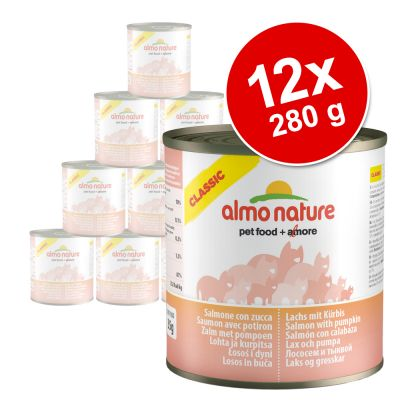 Ekonomipack: 12 x 280 g Almo Nature Classic – Tonfisk & kyckling