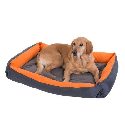 Variabel hundsäng – orange – B 110 x D 80