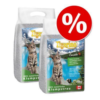 2 x 15 kg Tigerino Canada kattströ – 2 x 15 kg oparfyrmerad