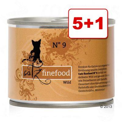 5 + 1 kaupan päälle! 6 x 200 g Catz Finefood -purkkiruoka - riista