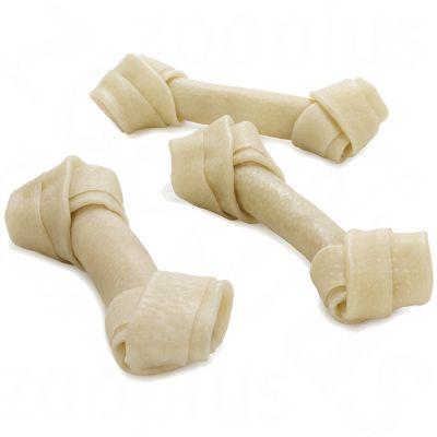 Barkoo knutna tuggben, natur, av gris – Ekonomipack: 24 st  ca 17 cm