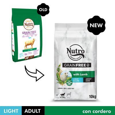 Nutro Grain Free Adult Light Cordero para perros - 10 kg