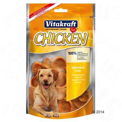 Vitakraft CHICKEN Kycklingbitar – Ekonomipack: 3 x 80 g