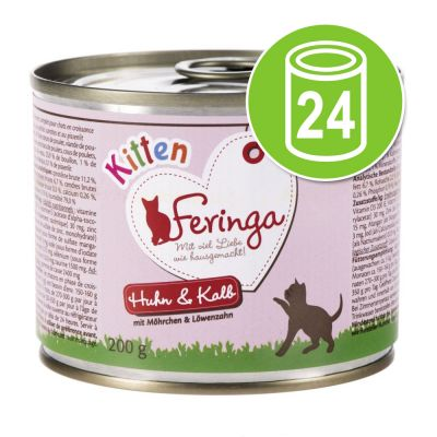 Feringa Kitten Voordeelpakket Kattenvoer 24 x 200 g Kalkoen