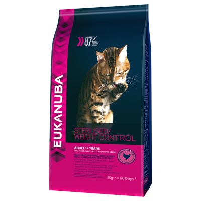 Eukanuba Sterilised / Weight Control Adult para gatos - 2 x 3 kg Pack Ahorro