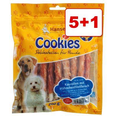 6 x 200 g Cookie's Delikatess -purutikkuja: 5 + 1 kaupan päälle! - 6 x 200 g