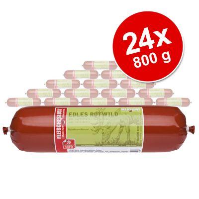 Fleischeslust-säästöpakkaus 24 x 800 g - Sensitive viljaton: saksanhirvi, peruna, palsternakka & metsämarjat