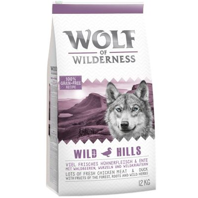 Wolf of Wilderness Wild Hills- ankka - 12 kg