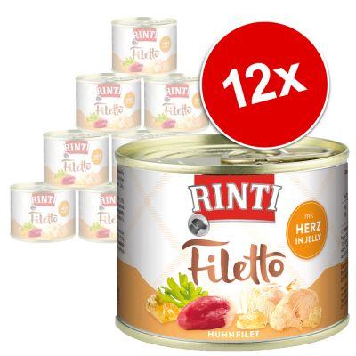 RINTI Filetto 12 x 210 g - kana & nauta hyytelössä
