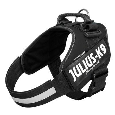 JULIUS-K9 IDC® Power -koiranvaljaat, musta - rinnanympärys 49 - 67 cm (Mini-koko)