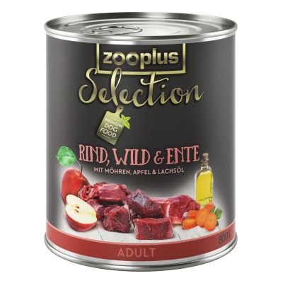 zooplus Selection Adult hovězí, zvěřina a kachní - 6 x 800 g