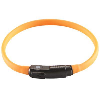 LED siliconen lichtslang Yukon, oranje - 18-34 cm halsomvang