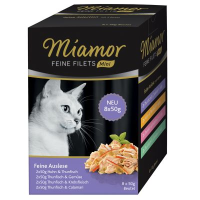 Miamor Feine Filets Mini Pouch 8 x 50 g Multibox