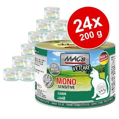 MAC´s Cat -säästöpakkaus 24 x 200 g - ankka, kalkkuna, kana
