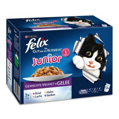 """Image of 12 x 100 g Felix """"So gut wie es aussieht"""" Junior - gemischte Vielfalt"""