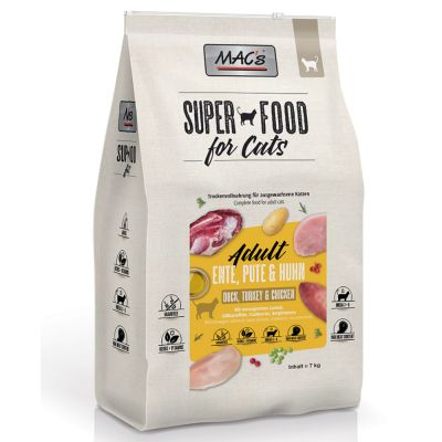 MAC's Superfood for Cats Adult Duck, Turkey & Chicken - 7 kg