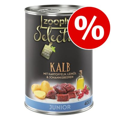 zooplus Selection koiranruoka 6 x 400 g erikoishintaan! - Senior & Light, kana