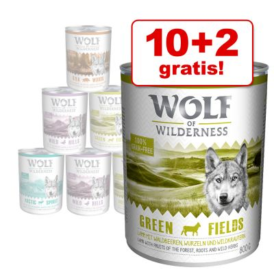 10 + 2 på köpet! Wolf of Wilderness 12 x 800 g – Wild Hills – Duck