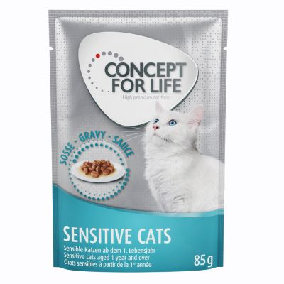 Concept for Life Sensitive Cats - in Gravy - 48 x 85 g