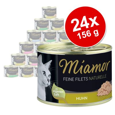 Miamor Fine Filets Naturelle 24 x 156 g - tonnikala & rapu