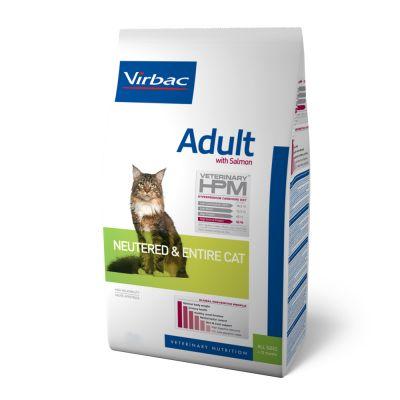 Virbac Veterinary HPM Cat Adult con salmón - 2 x 7 kg - Pack Ahorro