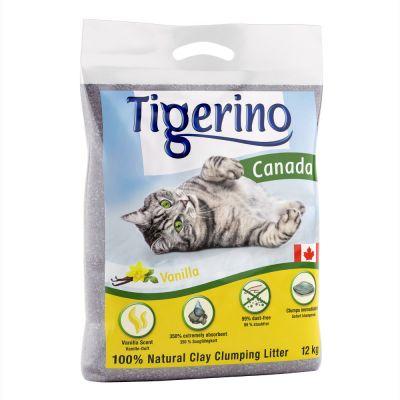 Limited Edition: Tigerino Canada -kissanhiekka - vaniljantuoksuinen - 12 kg