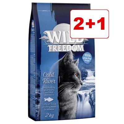 Wild Freedom -kuivaruoka 3 x 2 kg: 2 + 1 kaupan päälle! - Farmlands - Beef