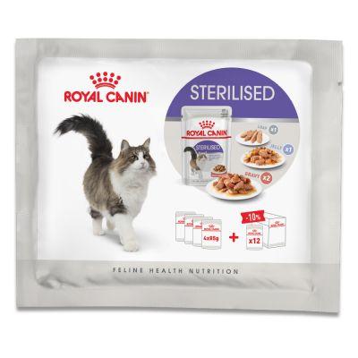 Royal Canin Sterilized kokeilupakkaus - 4 x 85 g (3 erilaista ruokavaihtoehtoa)