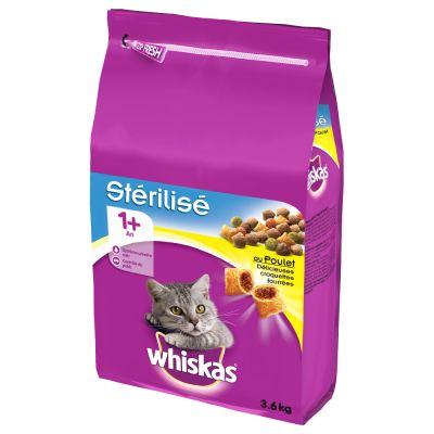 Whiskas 1+ Sterile Chicken - 2 x 3,6 kg