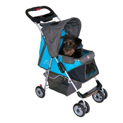 Sporty Pet Stroller Hundvagn för små hundar – Blå / grå