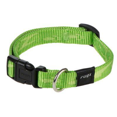 ROGZ Alpinist nylonhalsband, lime – Stl. L: 32 – 50 cm Halsumfang, B 20 mm